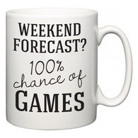 Weekend Forecast?  100% Chance of Games  Mug
