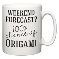 Weekend Forecast?  100% Chance of Origami  Mug