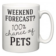 Weekend Forecast?  100% Chance of Pets  Mug