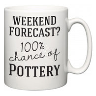 Weekend Forecast?  100% Chance of Pottery  Mug