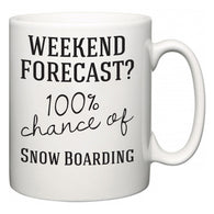 Weekend Forecast?  100% Chance of Snow Boarding  Mug