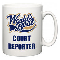 World's Best Court Reporter  Mug