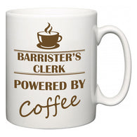 Barrister's clerk Powered by Coffee  Mug