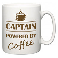 Captain Powered by Coffee  Mug
