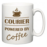 Courier Powered by Coffee  Mug