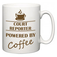Court Reporter Powered by Coffee  Mug