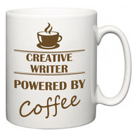 Creative Writer Powered by Coffee  Mug