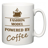 Fashion Model Powered by Coffee  Mug