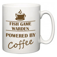 Fish Game Warden Powered by Coffee  Mug