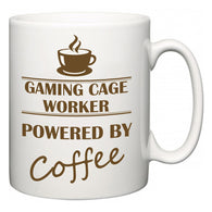 Gaming Cage Worker Powered by Coffee  Mug