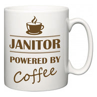 Janitor Powered by Coffee  Mug