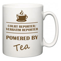 Court reporter/verbatim reporter Powered by Tea  Mug
