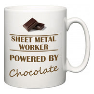 Sheet Metal Worker Powered by Chocolate  Mug