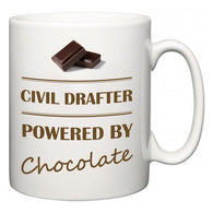 Civil Drafter Powered by Chocolate  Mug