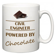 Civil Engineer Powered by Chocolate  Mug