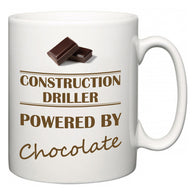 Construction Driller Powered by Chocolate  Mug