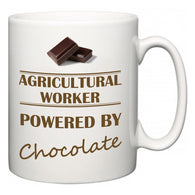 Agricultural Worker Powered by Chocolate  Mug