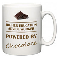 Higher education advice worker Powered by Chocolate  Mug