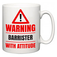 Warning Barrister with Attitude  Mug