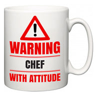 Warning Chef with Attitude  Mug