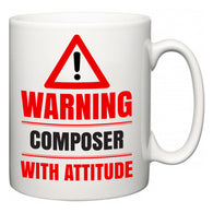 Warning Composer with Attitude  Mug