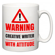 Warning Creative Writer with Attitude  Mug