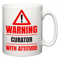 Warning Curator with Attitude  Mug