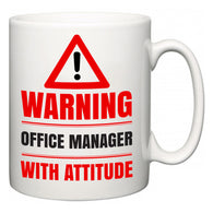 Warning Office manager with Attitude  Mug