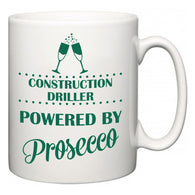 Construction Driller Powered by Prosecco  Mug