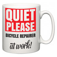 Quiet Please Bicycle Repairer at Work  Mug