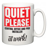 Quiet Please Central Office and PBX Installer at Work  Mug