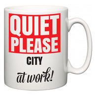 Quiet Please City at Work  Mug