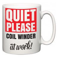 Quiet Please Coil Winder at Work  Mug