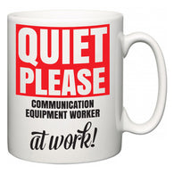 Quiet Please Communication Equipment Worker at Work  Mug