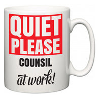 Quiet Please Counsil at Work  Mug