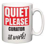 Quiet Please Curator at Work  Mug
