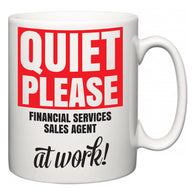 Quiet Please Financial Services Sales Agent at Work  Mug