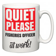 Quiet Please Fisheries officer at Work  Mug