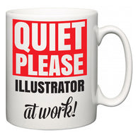 Quiet Please Illustrator at Work  Mug