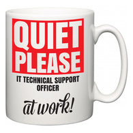 Quiet Please IT technical support officer at Work  Mug