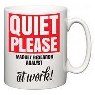 Quiet Please Market Research Analyst at Work  Mug