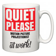 Quiet Please Motion Picture Projectionist at Work  Mug