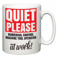 Quiet Please Numerical Control Machine Tool Operator at Work  Mug