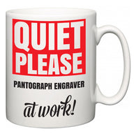 Quiet Please Pantograph Engraver at Work  Mug