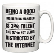 Being a good Engineering Manager is 3% talent and 97% not being distracted by the internet  Mug