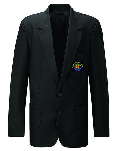 Junior Girls and Boys Black Embroidered Blazer - Caedmon College Whitby