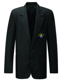 Senior Girls or Boys Black Embroidered Blazer - Caedmon College Whitby