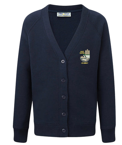 East Whitby Academy Classic Raglan Cardigan For items with added name/initials please select the size option at the bottom of the list and please let us know the name/initials required in the notes section