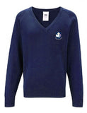 Senior Navy V Neck Sweater - Eskdale School
