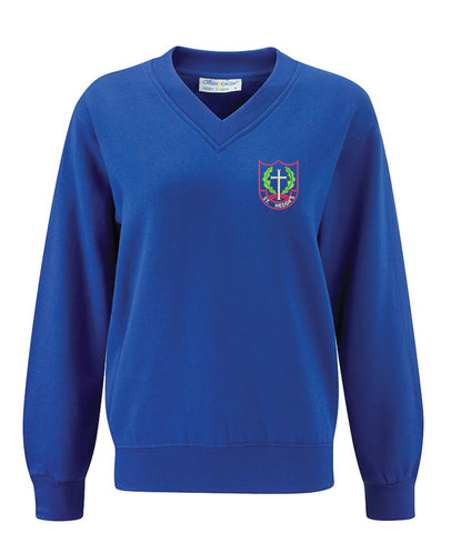 St Heddas School V Neck Sweater